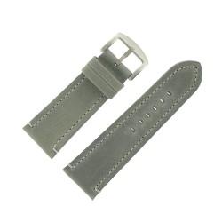 Bracelet de Montre 30mm Vintage Arizona Cuir Gris Fabrication Artisanale Européenne