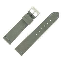Bracelet de Montre 20mm Rangers Gris en Cuir Nubuck Véritable Fabrication Artisanale