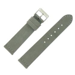 Bracelet montre Rangers Gris 20mm dégagement rapide Cuir véritable