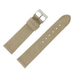 Bracelet de Montre 20mm Rangers Beige en Cuir Nubuck Véritable Fabrication Artisanale