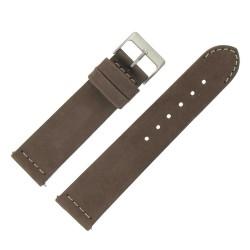 Bracelet de Montre 22mm Rangers Marron en Cuir Nubuck Véritable Fabrication Artisanale