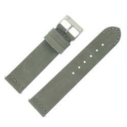 Bracelet de Montre 22mm Rangers Gris en Cuir Nubuck Véritable Fabrication Artisanale