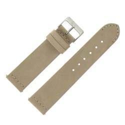 Bracelet montre Rangers Beige 22mm dégagement rapide Cuir véritable