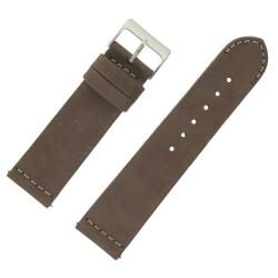 Bracelet montre Rangers Marron 24mm dégagement rapide Cuir véritable