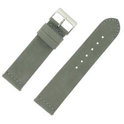 Bracelet de Montre 24mm Rangers Gris en Cuir Nubuck Véritable Fabrication Artisanale