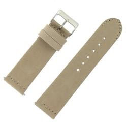 Bracelet montre Rangers Beige 24mm dégagement rapide Cuir véritable