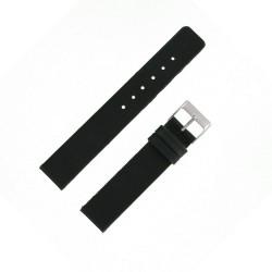 Bracelet de montre 14mm Noir Modern en Cuir Véritable Aniline