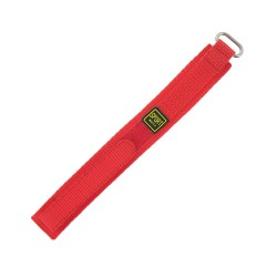Bracelet de montre 16mm rouge en Nylon fermeture Scratch