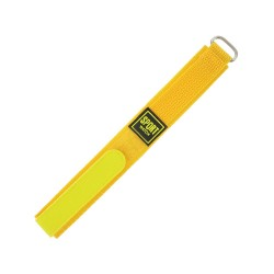 Bracelet de montre 16mm jaune en Nylon fermeture Scratch