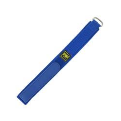 Bracelet de montre 16mm bleu en Nylon fermeture Scratch