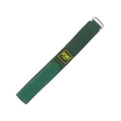 Bracelet de montre 20mm vert en Nylon fermeture Scratch