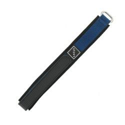 Bracelet de montre 18mm bleu en Nylon fermeture Scratch