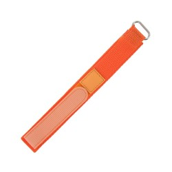 Bracelet de montre 20mm orange en Nylon fermeture Scratch
