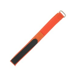 Bracelet de montre 16mm orange en Nylon fermeture Scratch