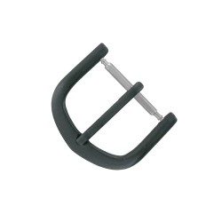 Boucle à Ardillon 16mm de remplacement en Métal Alloy Noir pour Bracelet de Montre