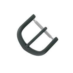 Boucle Fermoir 16mm en Métal Noir pour Bracelet de Montre