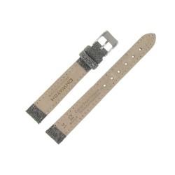 Bracelet de montre en Cuir gaufré pailleté
