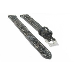 Bracelet de montre Cuir de veau gaufré Python Artisanal