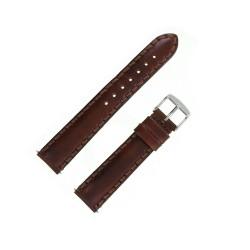 Bracelet de Montre 18mm Vintage Taylord Cuir Marron Doré Fabrication Artisanale