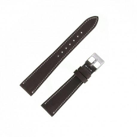 Bracecelet Montre 18mm Marron de remplacement en Cuir Véritable Artisanal