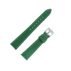 Bracecelet Montre 18mm Vert de remplacement en Cuir Véritable Artisanal