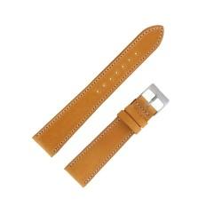 Bracecelet de Montre 19mm Jaune en Cuir Véritable Fabrication Artisanale Européenne
