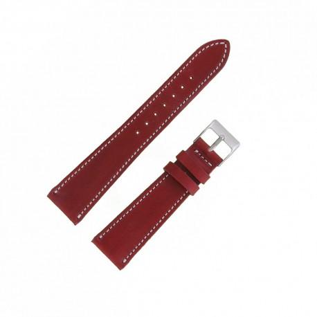 Bracecelet Montre 20mm Cerise de remplacement en Cuir Véritable Artisanal