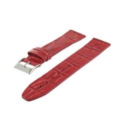 Bracelet de montre Cuir Veau Gaufré Alligator