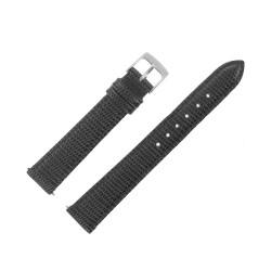 Bracelet de montre 16mm Noir Façon Lézard Cuir Veau Véritable