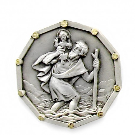 Magnet Médaille de Saint Christophe. Made in France