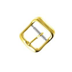 Boucle Double 16mm en Acier Doré Remplacement Bracelet de montre