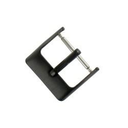 Boucle à Ardillon 16mm de Remplacement en Acier Inox Noir pour Bracelet de Montre