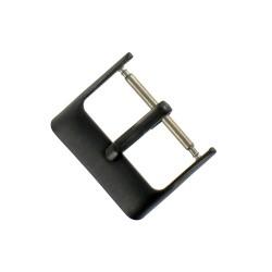 Boucle à Ardillon 18mm de Remplacement en Acier Inox Noir pour Bracelet de Montre