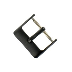 Boucle Fermoir 18mm en Acier Noir Remplacement Bracelet de Montre