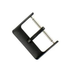 Boucle à Ardillon 20mm de Remplacement en Acier Inox Noir pour Bracelet de Montre