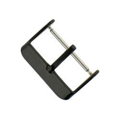 Boucle à Ardillon 22mm de Remplacement en Acier Inox Noir pour Bracelet de Montre