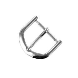 Boucle à Ardillon 16mm de remplacement en Métal Alloy Chromé pour Bracelet de Montre