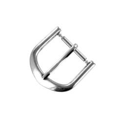 Boucle Fermoir 14mm en Métal argenté Remplacement Bracelet Montre