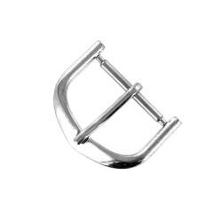 Boucle à Ardillon 18mm de remplacement en Métal Alloy Chromé pour Bracelet de Montre