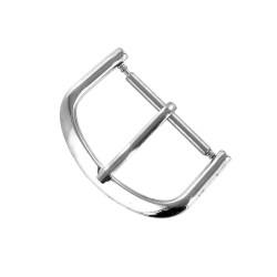Boucle à Ardillon 20mm de remplacement en Métal Alloy Chromé pour Bracelet de Montre