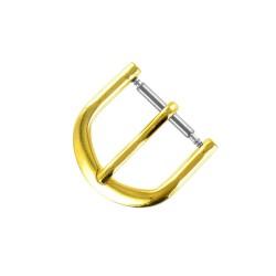 Boucle à Ardillon 14mm de remplacement en Métal Alloy Doré pour Bracelet de Montre