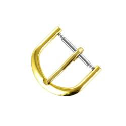 Boucle à Ardillon 16mm de remplacement en Métal Alloy Doré pour Bracelet de Montre