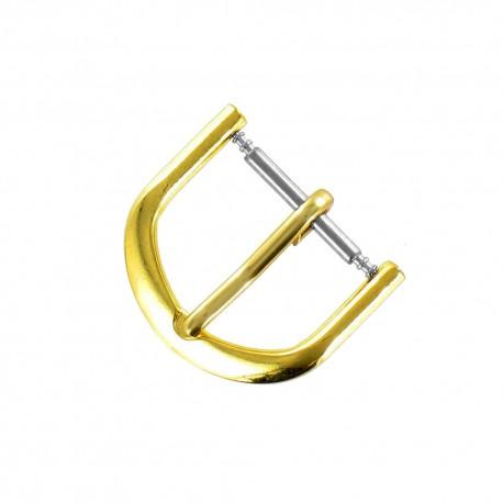 Boucle Fermoir 18mm en Alloy Doré pour Bracelet de Montre