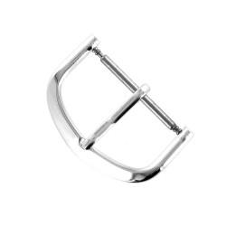 Boucle Fermoir 20mm en Aluminium Chromé pour Bracelet de Montre