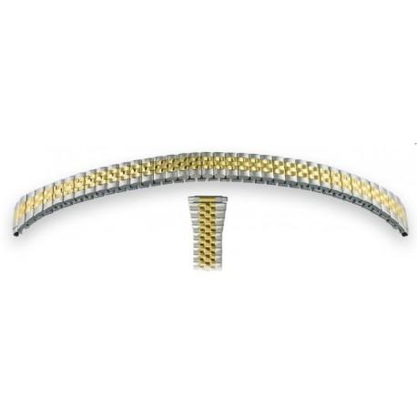 Bracelet Montre 10-14mm en Acier Bicolore Extensible élastique FixoStar