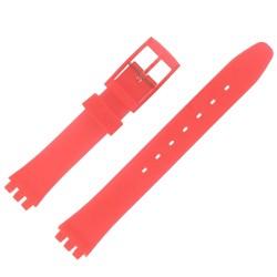 Bracelet de Montre 12mm Rouge Alternatif Adaptable pour montre Swatch P38 Ladies