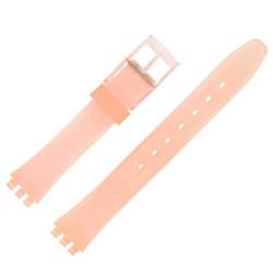 Bracelet de Montre 12mm Orangé Alternatif Adaptable pour montre Swatch P38 Ladies
