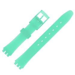 Bracelet de Montre 12mm Vert Alternatif Adaptable pour montre Swatch P38 Ladies