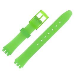 Bracelet de Montre 12mm Vert Sapin Alternatif Adaptable pour montre Swatch P38 Ladies