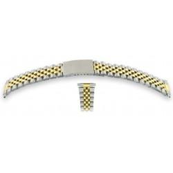 Bracelet de Montre Anses Télescopiques 16 à 22mm Acier Bicolore Jubilée